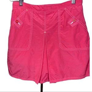 Lands' End Neon Pink Nylon Girls Skort